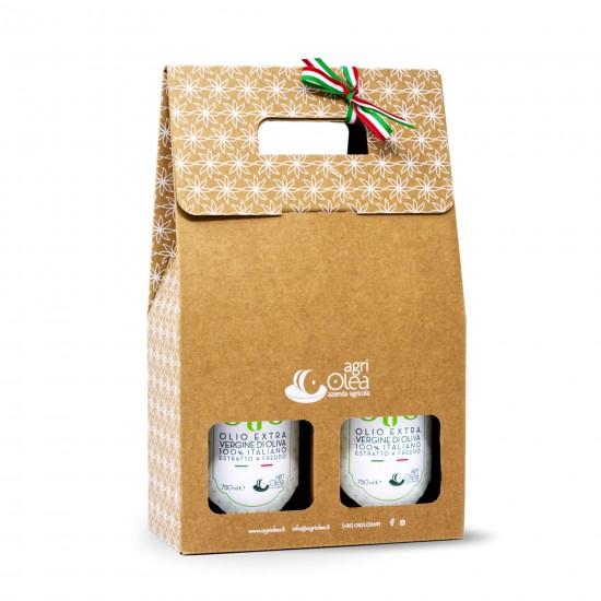 Extra Virgin Olive Oil - Gift box 750 ml x 2